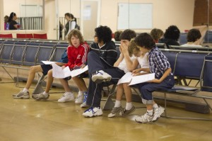 Boys reading audition script